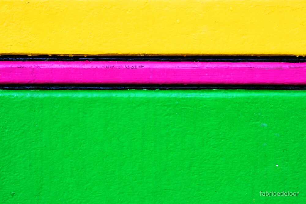 Yellow - pink - green by fabricedeloor