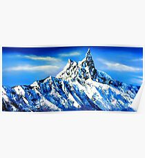 Panoramic View Of Everest Mountain Peak Poster