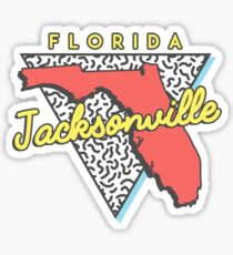 Jacksonville Florida 80s Design Sticker