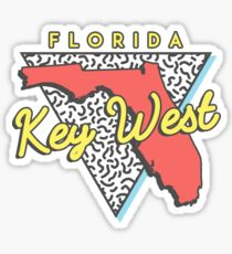 Key West Florida 80s Design Sticker