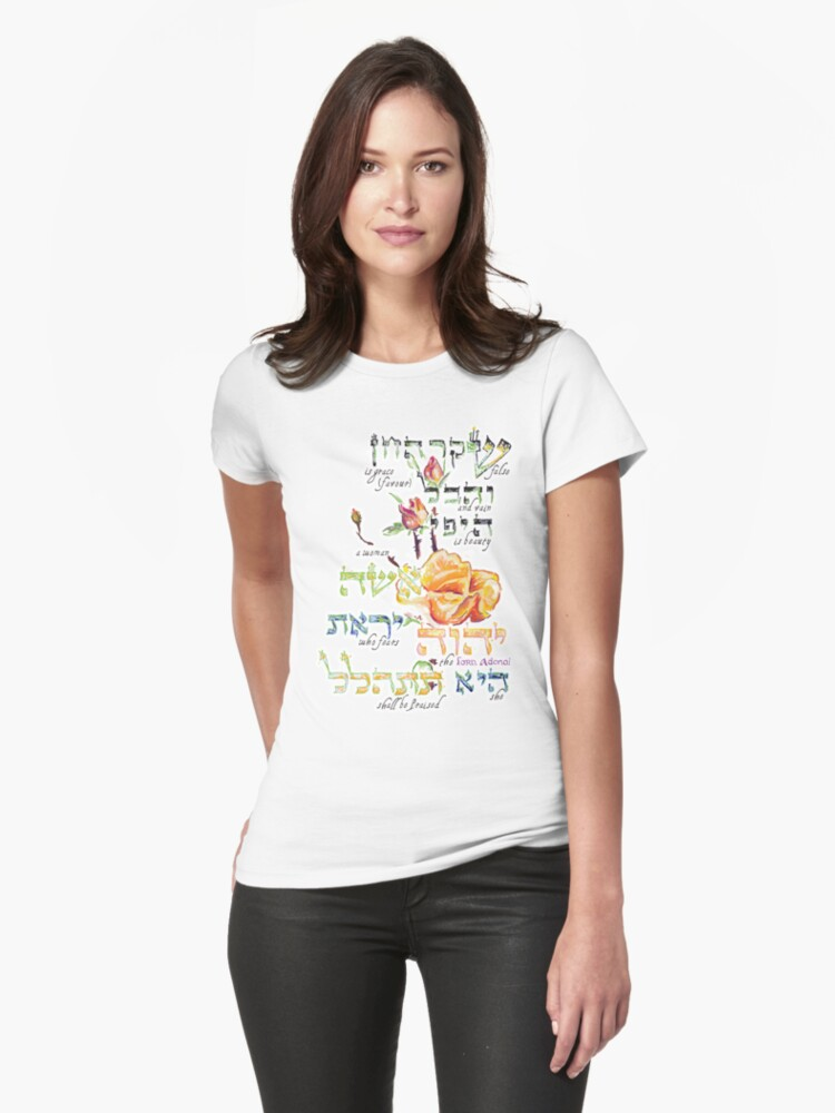 Virtuous Woman - Proverbs 31:30 Womens T-Shirt Front