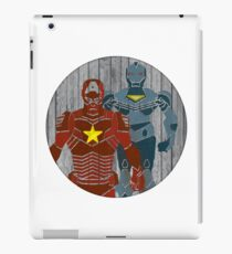Superhero on wood surface iPad Case/Skin