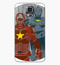 Superhero on wood surface Case/Skin for Samsung Galaxy