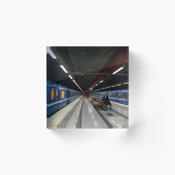 Stockholm Metro Duvbo Station Acrylic Block