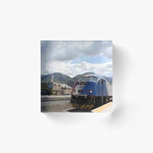 Utah Commuter Rail Acrylic Block