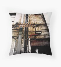 pipes and lines Throw Pillow