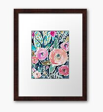 Gardens of Capitola Watercolor Floral Framed Print