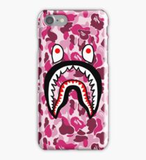 Shark Face Pink Camo iPhone Case/Skin