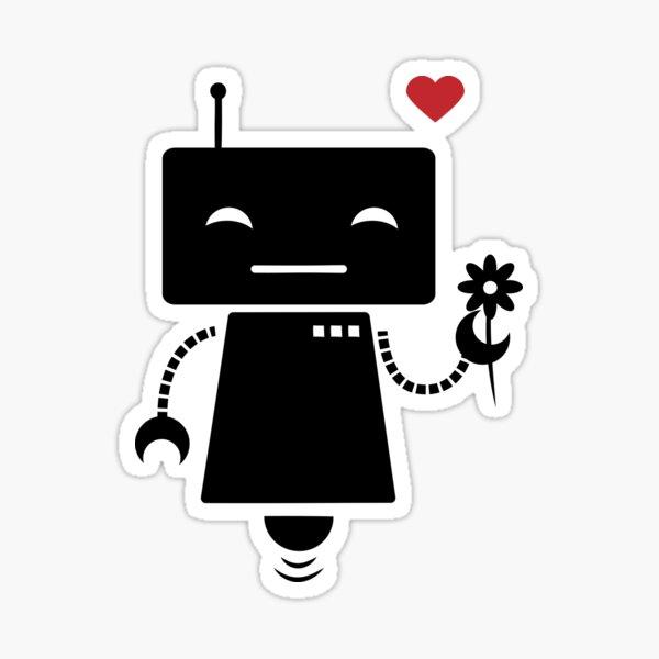 Robot With Flower Sticker