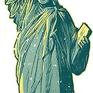 PERSIST - Lady Liberty Flaming Fist by Captain RibMan