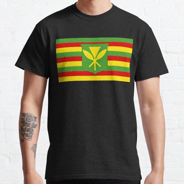 Drapeau Maaka de Kanaka - Hawaiian natif T-shirt classique