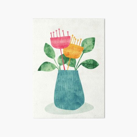 Bouquet Art Board Print