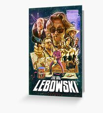 Lebowski Star Wars Poster Greeting Card