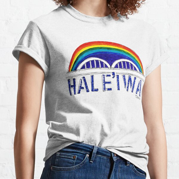 Hale'iwa Town Rainbow Bridge Classic T-Shirt