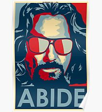 Abide - The Dude Tee T-Shirt Poster