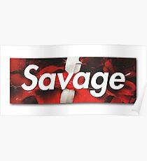 21 Savage Supreme Logo Poster
