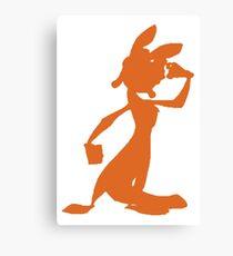 Daxter Silhouette - Orange Canvas Print