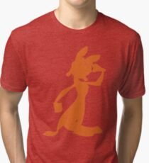 Daxter Silhouette - Orange Tri-blend T-Shirt
