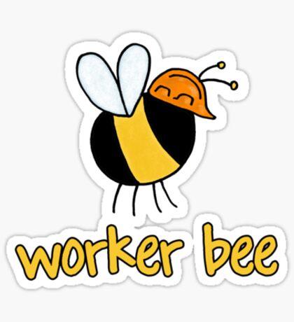 Worker Bee - builder/construction Sticker