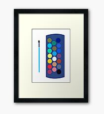 water colour colourful design Framed Print