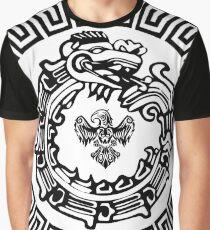 Aztec Ouroboros War Bird Graphic T-Shirt