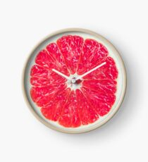Sliced Fresh Grapefruit Clock