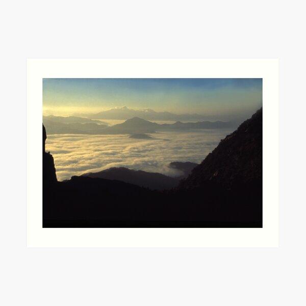 the Frenchmans Cap, sunrise west coast range. Art Print