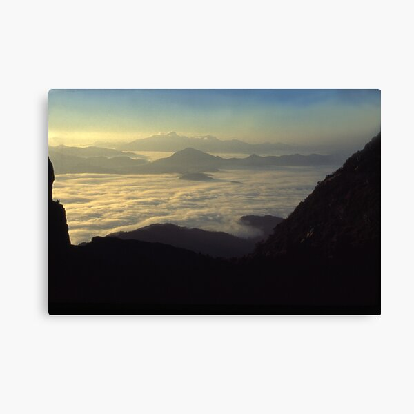 the Frenchmans Cap, sunrise west coast range. Canvas Print