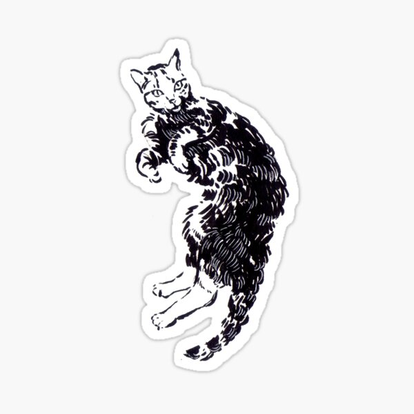 Lying cat Pegatina