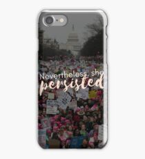 Nevertheless, she persisted phone case iPhone Case/Skin