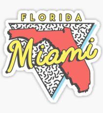 Miami Beach Florida 80s Design Sticker