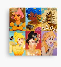 Mod Mash Up Honey Girl Collection Canvas Print