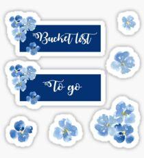 Bucket list & To go sticker set Sticker