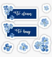 Pegatina Para limpiar y comprar pegatina