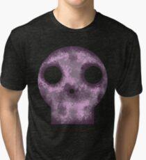 Purple Skull Decay Tri-blend T-Shirt