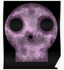 Purple Skull Decay Poster