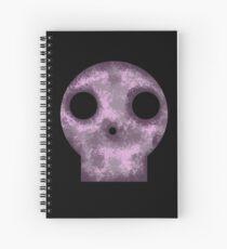 Purple Skull Decay Spiral Notebook