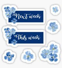 Pegatina La próxima semana y el conjunto de pegatinas de esta semana