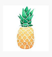 Watercolour Pinapple Photographic Print