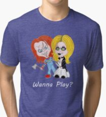 Wanna Play? Tri-blend T-Shirt