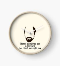 Toby Ziegler quote II | There's literally no one in the world that I don't hate right now Clock