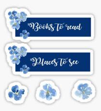 Pegatina Libros para leer y lugares para ver pegatina