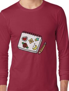 Sketch Pad and Pencil Long Sleeve T-Shirt