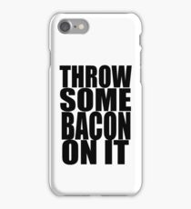 "Nick Jonas ""Bacon"" Lyrics Print iPhone Case/Skin"