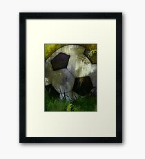 Abstract Soccer Ball Painting Framed Print