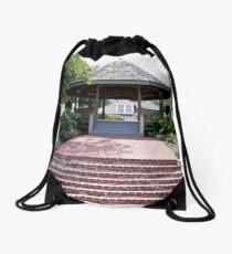 The Beautiful Riverfront Gardens Drawstring Bag
