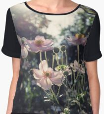 In a Country Garden Women's Chiffon Top