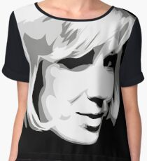 Dusty Springfield - Pop Icon Black and White portrait Women's Chiffon Top
