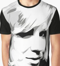 Dusty Springfield - Pop Icon Black and White portrait Graphic T-Shirt