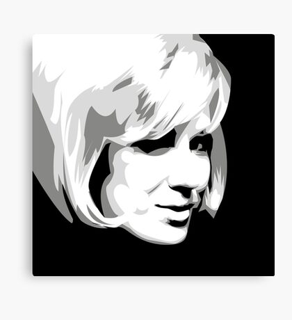 Dusty Springfield - Pop Icon Black and White portrait Canvas Print
